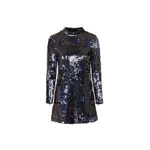 TOPSHOP High Neck Sequin Dress (NWT)